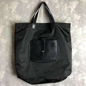 Tumi black nylon tote travel bag